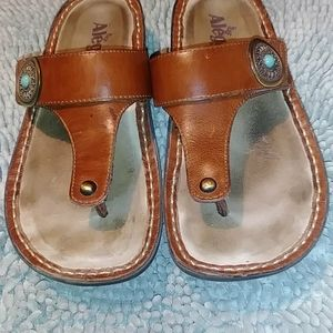 Alegria Carina Brown Sandals